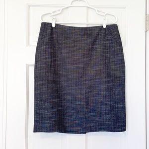 ANN TAYLOR skirt size 12 grey textured straight